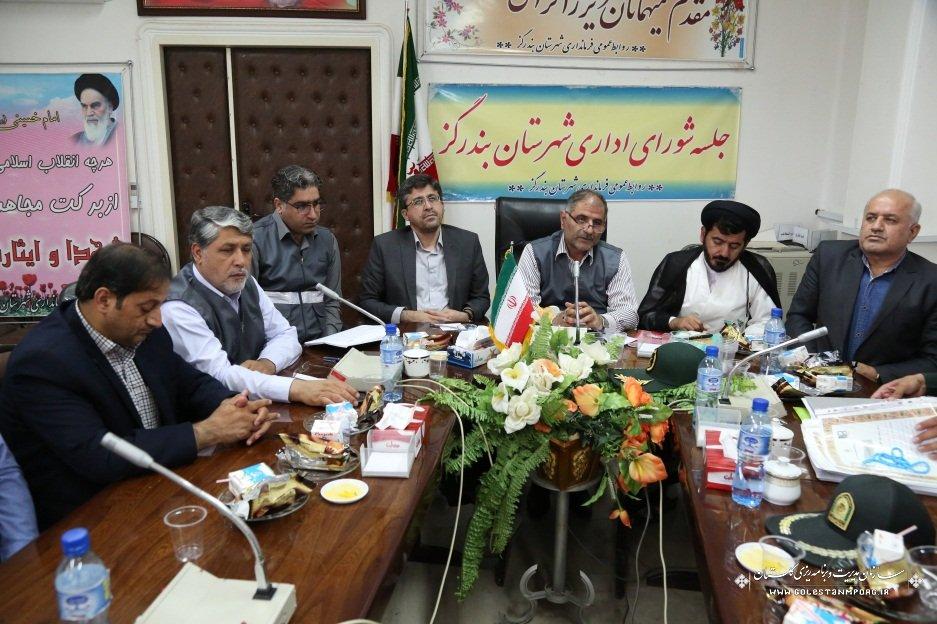 حضور قائم مقام مدیر اجرای سرشماری استان در جلسه شورای اداری شهرستان بندرگز
